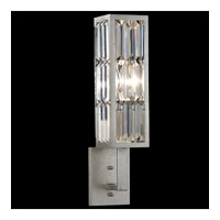 Fine Art Lamps Crystal Enchantment 1 Light Sconce in Silver Leaf 811450ST photo thumbnail