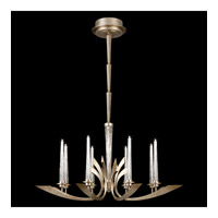 Crescents 8 Light 39 inch Warm Silver Leaf Chandelier Ceiling Light