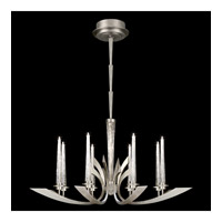 Fine Art Lamps Crescents 8 Light Chandelier in Silver Leaf 812440ST