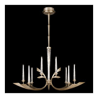 Crescents 12 Light 50 inch Warm Silver Leaf Chandelier Ceiling Light