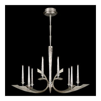 Fine Art Lamps Crescents 12 Light Chandelier in Silver Leaf 812540ST