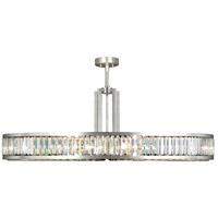 Fine Art Lamps 812940ST Crystal Enchantment 10 Light 48 inch Silver Leaf Pendant Ceiling Light