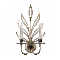 Fine Art Lamps Villandry 2 Light Sconce in Antique Silver Leaf w/ Black 814650ST