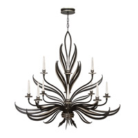 Fine Art Lamps Villandry 12 Light Chandelier in Rubbed Black w/ Antique Silver Leaf 815140-2ST