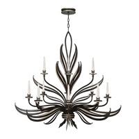 Fine Art Lamps Villandry 12 Light Chandelier in Rubbed Black w/ Antique Silver Leaf 815140-2ST photo thumbnail