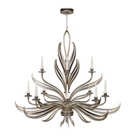 Fine Art Lamps Villandry 12 Light Chandelier in Antique Silver Leaf w/ Black 815140ST