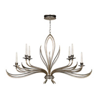 Fine Art Lamps Villandry 6 Light Chandelier in Antique Silver Leaf w/ Black 815240ST