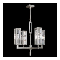 Fine Art Lamps 815340ST Crystal Enchantment 4 Light 28 inch Silver Leaf w/ Crystal Chandelier Ceiling Light