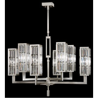 Fine Art Lamps 815440ST Crystal Enchantment 8 Light 40 inch Silver Leaf w/ Crystal Chandelier Ceiling Light