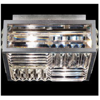 Crystal Enchantment 2 Light 11 inch Silver Flush Mount Ceiling Light