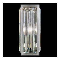 Fine Art Lamps 815650ST Crystal Enchantment 1 Light 5 inch Silver Leaf w/ Crystal Sconce Wall Light photo thumbnail