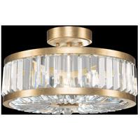 Fine Art Lamps 815740-2ST Crystal Enchantment 3 Light 16 inch Gold Semi-Flush Mount Ceiling Light
