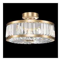 Crystal Enchantment 3 Light 16 inch Gold Semi-Flush Mount Ceiling Light