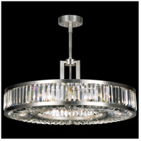 Fine Art Lamps 815840ST Crystal Enchantment 6 Light 29 inch Silver Leaf w/ Crystal Pendant Ceiling Light