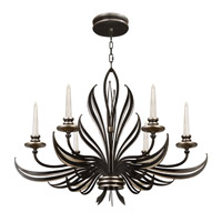 Fine Art Lamps Villandry 6 Light Chandelier in Rubbed Black w/ Antique Silver Leaf 815940-2ST