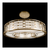 Allegretto Gold 16 Light 80 inch Burnished Gold Leaf Pendant Ceiling Light