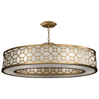 Fine Art Lamps 816640-2GU Allegretto Gold 6 Light 45 inch Gold Pendant Ceiling Light
