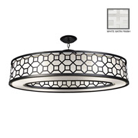 Fine Art Lamps Black + White Story 6 Light Pendant in Studio White Satin Lacquer 816640-5GU