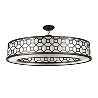 Black + White Story 6 Light 45 inch Black Satin Lacquer Pendant Ceiling Light
