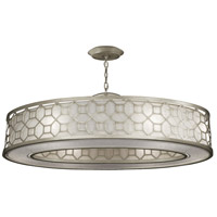 Allegretto Silver 6 Light 45 inch Silver Pendant Ceiling Light