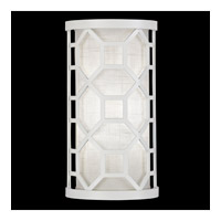 Fine Art Lamps Black + White Story 1 Light Sconce in Studio White Satin Lacquer 816750-5GU