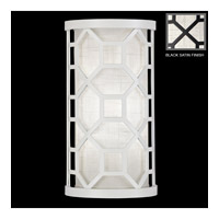Fine Art Lamps Black + White Story 1 Light Sconce in Black Satin Lacquer 816750-6GU