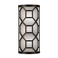 Fine Art Lamps Black and White Story 2 Light Sconce in Black Satin Lacquer 816850-6GU