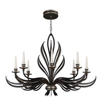 Fine Art Lamps Villandry 8 Light Chandelier in Rubbed Black w/ Antique Silver Leaf 817240-2ST