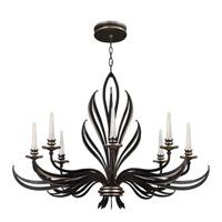 Fine Art Lamps Villandry 8 Light Chandelier in Rubbed Black w/ Antique Silver Leaf 817240-2ST photo thumbnail