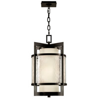 Singapore Moderne Outdoor 2 Light 14 inch Dark Bronze Patina Outdoor Lantern