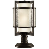 Singapore Moderne Outdoor 2 Light 24 inch Dark Bronze Patina Outdoor Pier/Post Mount