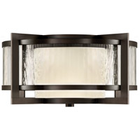 Fine Art Lamps 817982ST Singapore Moderne Outdoor 2 Light 20 inch Dark Bronze Patina Outdoor Flush Mount