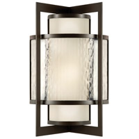 Singapore Moderne Outdoor 2 Light 19 inch Dark Bronze Patina Outdoor Wall Sconce