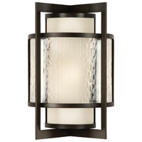 Singapore Moderne Outdoor 2 Light 24 inch Dark Bronze Patina Outdoor Wall Sconce