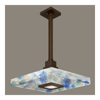 Fine Art Lamps Crystal Bakehouse 1 Light Pendant in Bronze with Polished Block of Cobalt & Aqua Crystal Shards 818840-12ST