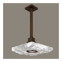 Fine Art Lamps Crystal Bakehouse 1 Light Pendant in Bronze with Polished Block of Crystal River Stones 818840-14ST