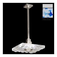 Fine Art Lamps Crystal Bakehouse 1 Light Pendant in Silver with Polished Block of Cobalt & Aqua Crystal Shards 818840-22ST