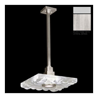 Fine Art Lamps Crystal Bakehouse 1 Light Pendant in Silver with Polished Block of Crystal Shards 818840-23ST