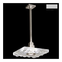 Fine Art Lamps Crystal Bakehouse 1 Light Pendant in Silver with Polished Block of Crystal River Stones 818840-24ST