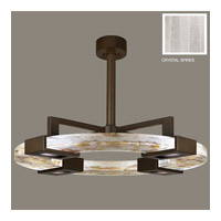 Fine Art Lamps Crystal Bakehouse 4 Light Pendant in Bronze with Polished Block of Crystal Shards 819140-13ST