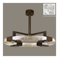 Fine Art Lamps Crystal Bakehouse 4 Light Pendant in Bronze with Polished Block of Crystal River Stones 819140-14ST