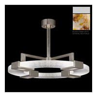Crystal Bakehouse 4 Light 37 inch Silver Pendant Ceiling Light