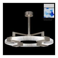 Fine Art Lamps Crystal Bakehouse 4 Light Pendant in Silver with Polished Block of Cobalt & Aqua Crystal Shards 819140-22ST