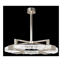 Fine Art Lamps Crystal Bakehouse 4 Light Pendant in Silver Leaf with Polished Block of Crystal River Stones 819140-34ST