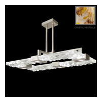 Crystal Bakehouse 4 Light 50 inch Silver Leaf Pendant Ceiling Light