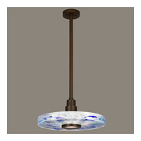 Fine Art Lamps Crystal Bakehouse 1 Light Pendant in Bronze with Polished Block of Cobalt & Aqua Crystal Shards 823240-12ST