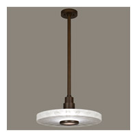 Fine Art Lamps Crystal Bakehouse 1 Light Pendant in Bronze with Polished Block of Crystal Shards 823240-13ST