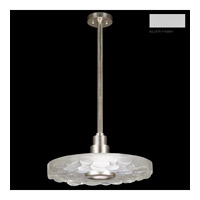 Fine Art Lamps Crystal Bakehouse 1 Light Pendant in Silver with Polished Block of Crystal River Stones 823240-24ST