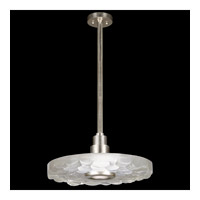 Fine Art Lamps Crystal Bakehouse 1 Light Pendant in Silver Leaf with Polished Block of Crystal River Stones 823240-34ST