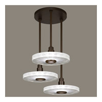 Fine Art Lamps Crystal Bakehouse 3 Light Pendant in Bronze with Polished Block of Crystal Shards 823640-13ST